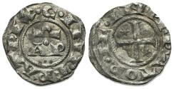World Coins - Italy, Brindisi. Enrico VI (1190-1198). BI Denaro. AP. R/ Cross.