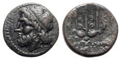 Ancient Coins - Sicily, Syracuse. Hieron II (275-215 BC). Æ