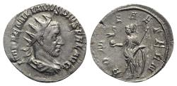 Ancient Coins - Aemilian (AD 253). AR Antoninianus. Rome. R/ ROMA RARE