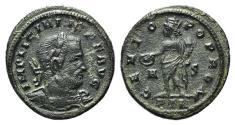 Ancient Coins - Licinius I (308-324). Æ Follis. Treveri, 315-6.  R/ Genius