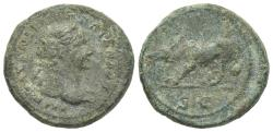 Ancient Coins - Trajan(98-117). Æ Quadrans. Rome, c. 98-102.. R/ Boar
