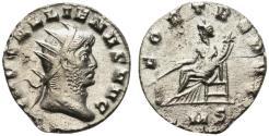 Ancient Coins - Gallienus (253-268). Antoninianus. Mediolanum, AD 266. R/ FOORTUNA