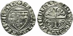 World Coins - France, Charles VI (1380-1422). AR Blanc