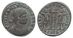 Ancient Coins - Constantine II (Caesar, 316-337). Æ Follis. Siscia, 334-5.
