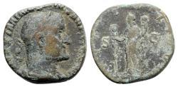 Ancient Coins - Maximinus I (235-238). Æ Sestertius - R/ Fides