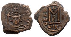 Ancient Coins - Heraclius (610-641). Æ 40 Nummi - Nicomedia, year 1