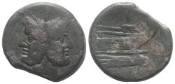 Ancient Coins - ROME REPUBLIC Anonymous, Rome, after 211 BC. Æ As  Janus / Prow