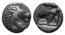 Ancient Coins - Asia Minor, Uncertain, c. 600-550 BC. AR Hemiobol - Horse head