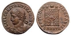 Ancient Coins - Constantius II (Caesar, 324-337). Æ - Antioch - R/ Camp gate