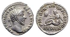 Ancient Coins - Marcus Aurelius (161-180). AR Denarius - Rome - R/ Armenia