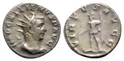 Ancient Coins - Gallienus (253-268). AR Antoninianus - Rome - R/ Virtus