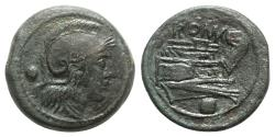 Ancient Coins - Roman Republic - Anonymous, Rome, c. 215-212 BC. Æ Uncia