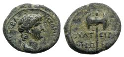 Ancient Coins - Nero (Caesar, 51-54). Lydia, Thyatira. Æ - R/ Double-bladed axe