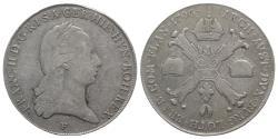World Coins - Holy Roman Empire, Franz II (1792-1804). AR Kronentaler 1796, F Hall