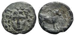 Ancient Coins - Mysia, Parion, 2nd-1st century BC. Æ - Medusa / Bull