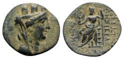 Ancient Coins - Cilicia, Mopsos, 164-27 BC. Æ - Tyche / Zeus