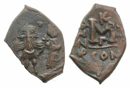 Ancient Coins - Constans II and Constantine IV (641-668). N 40 Nummi. Constantinople.