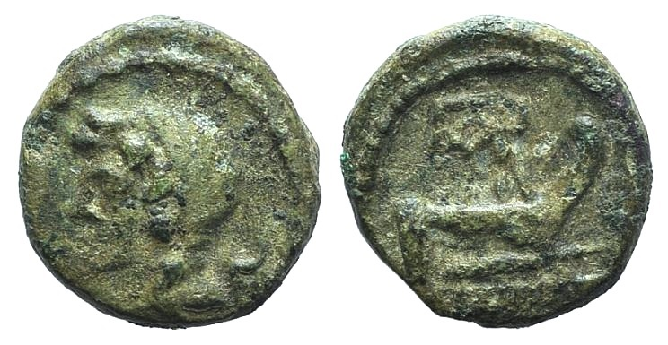 Ancient Coins - Sicily, Panormos, after 241 BC. AE 13mm