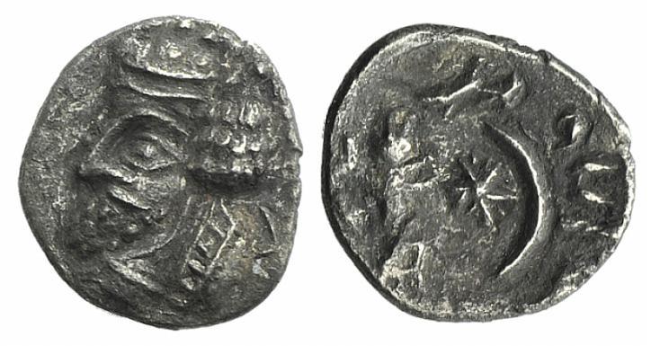 Ancient Coins - Kings of Persis. Namopat (Nambed) (1st century AD). AR Obol