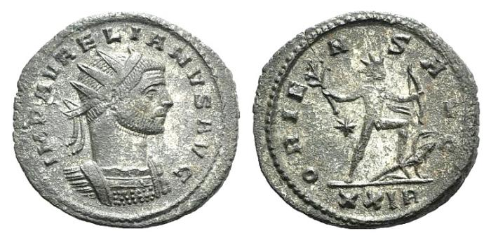 Ancient Coins - Aurelian. AD 270-275. Antoninianus. Rome mint. R / Sol
