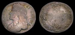 World Coins - 1688 Great Britain Silver Shilling Rare In Any Condition (Approx. 270 in Fine) S-3410 VG+ 6304