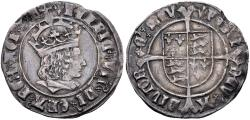 Ancient Coins - TUDOR, Henry VII, 1485-1509, AR Groat (26mm, 2.96 g, 10h), Profile issue, Tower (London) mint; im: pheon. Struck 1505-1509 VF