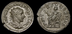 Ancient Coins - Gordian III, A.D. 238-244, AR Antoninianus (23 mm, 4.02 gm., 8h), Rome, Struck A.D. 241, VF
