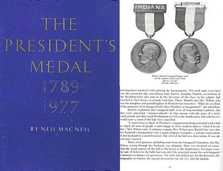 US Coins - The President's Medal 1789-1977 by Neil MacNeil
