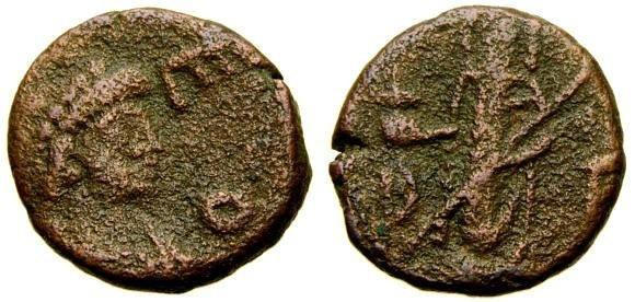 Ancient Coins - Leo I, A.D. 457-474 Æ-4 (11 mm, 0.99 gm., 12h), Constantinople mint Good Fine, Rare Verina