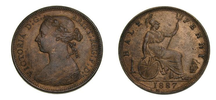 1887 half penny