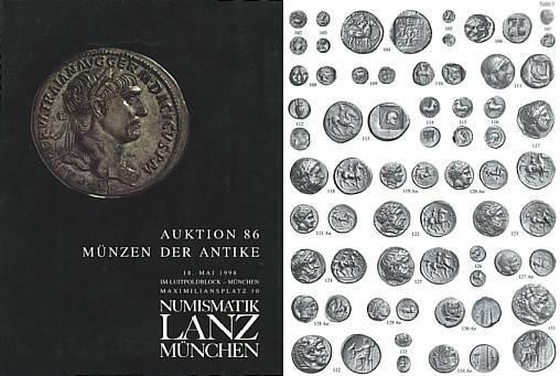 Ancient Coins - Numismatik Lanz Auktion 86 - May 18, 1998 - Munzen der Antike - Lanz 86 Auction Catalogue - Greek, Roman and Byzantine Coins
