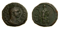 Ancient Coins - Roman Egypt, Alexandria. Probus (A.D. 276-282) Potin Tetradrachm (20 MM, 8.63 GM, 12 H) Dated Year 2, Good VF