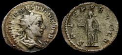 Ancient Coins - Herennius Etruscus, as Caesar, AD 250-251, AR Antoninianus (23 mm, 2.68 gm., 6h) Rome, AD 250-251. Good VF