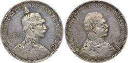 Ancient Coins - GERMANY, German Empire, Wilhelm II (Emperor, 1888-1918), AR Medal (33 mm, 18.29 g, 12h, )Due to his reconciliation with Otto von Bismarck (1812-1898) by Lauer, medalist Nuremberg E