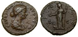 Ancient Coins - Faustina Junior, Augusta, A.D. 147-175, Æ As (25 mm, 8.71 g, 6h). Rome mint. Struck under Marcus Aurelius, circa AD 170-175/6 aVF