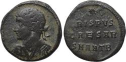 Ancient Coins - CRISPUS as Caesar, 316-326, Æ Follis (17 mm, 2.57 g, 12h), Antioch mint, 2nd officina, Struck under Constantine I, AD 325 Fine+