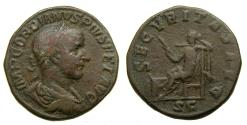Ancient Coins - Gordian III, A.D. 238-244, Æ Sestertius (30 mm, 19.41 gm., 12h), Rome mint, AD 240 VF George His Collection