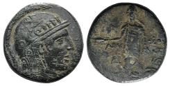 Ancient Coins - Pontos, Amisos, circa 85-65 BC. Æ (28 mm, 18.30 g, 12h), Struck under Mithradates VI VF/F