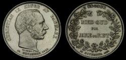 World Coins - Denmark 1888 2 Kroner AR (14.96g, 31mm, 11h) KM#799 Mintage 101,000 AU+
