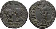 Ancient Coins - THRACE, Anchialus, Gordian III with Tranquillina 238-244 AD, Æ (25 mm, 8.46 g, 7h) Good VF