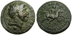 Ancient Coins - MACEDON, Koinon of Macedon, Pseudo-autonomous issue, 3rd century A.D. Æ 25 mm (10.97 gm., 6h) aVF/VF Alexander The Great Bucephalus