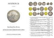 World Coins - Münzen und Medaillen, Deutschland Auction 26 - May 27 2008 - Sammlung Klaus Bronny - Munzen der Kirchenstaates - Papal Coins - Coins Associated with Church - Excellent Catalogue