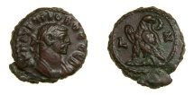 Ancient Coins - Roman Egypt, Alexandria. Probus (A.D. 276-282) Potin Tetradrachm (20.5 MM, 7.93 GM, 11 H) Dated Year 7, EF