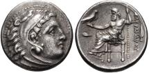 Ancient Coins - KINGS of MACEDON, Philip III Arrhidaios, 323-317 B.C. AR Drachm (17 mm, 4.27 gm., 11h) Struck In the name of Alexander III, Kolophon mint, Struck under Menander or Kleitos Ex CNG