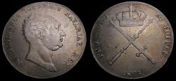 Ancient Coins - Germany 1825 Bavaria Thaler (Krone) .868 .8188 Oz. Maximilian IV KM# 706 EF 6343