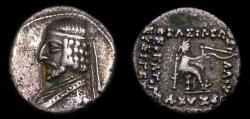 Ancient Coins - KINGS of PARTHIA, Arsakes XVI, 78/7-62/1 B.C. AR Drachm (18 mm, 4.14 gm., 12h). Ekbatana mint. Struck circa 78/7-68/7 BC. VF