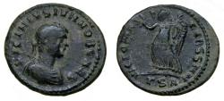 Ancient Coins - Licinius II. Caesar, AD 317-324. Æ Follis (19 mm, 2.93 gm., 6h) Thessalonica mint, Good VF Scarce
