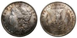 Us Coins - United States Moragan Silver Dollar 1888 UNC Die Clash VAM Variety Lips Toning