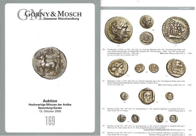 Ancient Coins - Gorny & Mosch Giessner Munzhandlung - Auction 169 - October 13, 2008 - Sammlung Karien - Ancient Coins - Collection of Ancient Coins from Caria and Rhodes