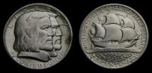 Us Coins - U.S.A 1936 Half Dollar Commemorative 300 Years of Long Island AU Mintage 81,826